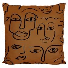 COUSSIN D'EXTERIEUR DAKHLA TABAC - Harmony Textile