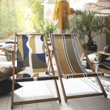 HOUSSE DE CHILIENNE 43X144 TULUM KAKI - Harmony Textile
