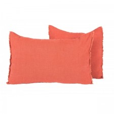 COUSSIN EN LIN 40X60 VITI ARGILE - Harmony Textile