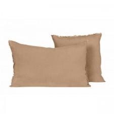 COUSSIN EN LIN 40X60 VITI CAMEL - Harmony Textile