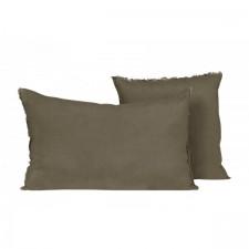 COUSSIN EN LIN 40X60 VITI BROWNIE - Harmony Textile
