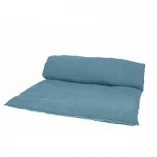 EDREDON EN LIN VITI 85X200 BLEU STONE - Harmony Textile