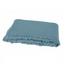 PLAID VANLY 130x190 BLEU STONE - Harmony Textile