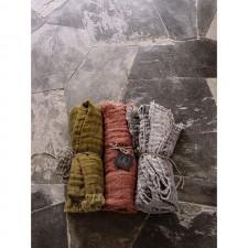 PLAID BAYA KAKI/BETON 135x200 - Harmony Textile