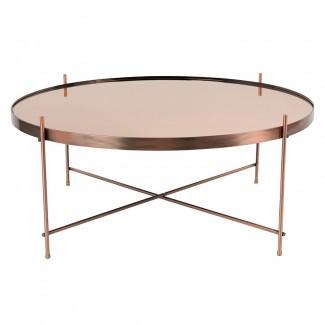TABLE CUPID XXL COPPER DIAM.82.5 H.35CM Zuiver