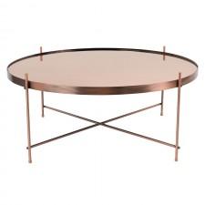 TABLE CUPID XXL COPPER DIAM.82.5 H.35CM
