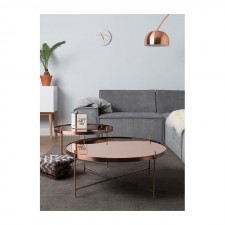 TABLE CUPID XXL COPPER 82.5X35 - Zuiver