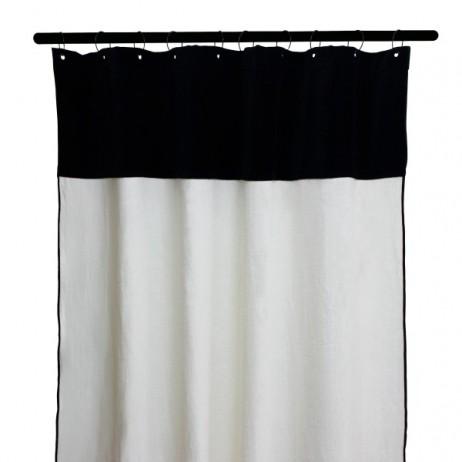 RIDEAUX MANSA 100% LIN LAVE 135X300 BLANC - Harmony Textile