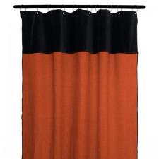 RIDEAUX MANSA 100% LIN LAVE 135X300 BRICK - Harmony Textile