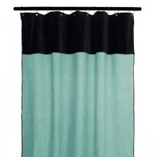 RIDEAUX MANSA 100% LIN LAVE 135X300 CELADON - Harmony Textile