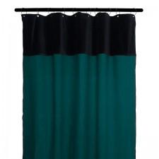 RIDEAUX MANSA 100% LIN LAVE 135X300 BLEU DE PRUSSE - Harmony Textile