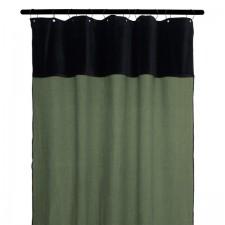 RIDEAUX MANSA 100% LIN LAVE 135X300 KAKI - Harmony Textile