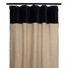 RIDEAUX MANSA 100% LIN LAVE 135X300 NATUREL - Harmony Textile