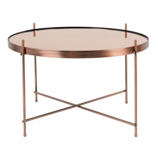 TABLE CUPID LARGE CUIVRE DIAM.62,5 H.40CM Zuiver