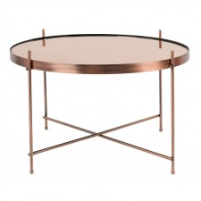 TABLE CUPID LARGE CUIVRE DIAM.62,5 H.40CM