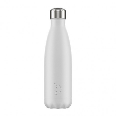 BOUTEILLE CHILLY'S 500ML MONOCHROME/WHITE - CHILLY'S