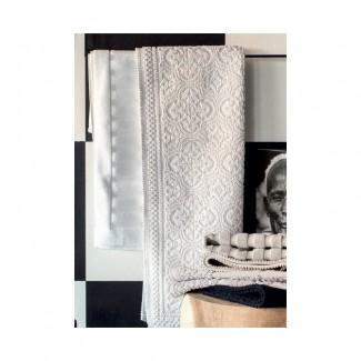 Tapis de bain blanc KYMI 55X110 Harmony Textile