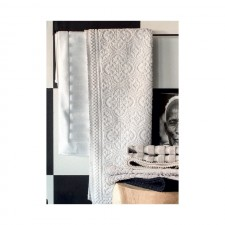 Tapis de bain blanc KYMI 55X110