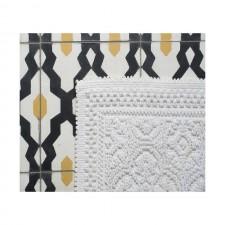 TAPIS DE BAIN KYMI BLANC 55X110 - Harmony Textile
