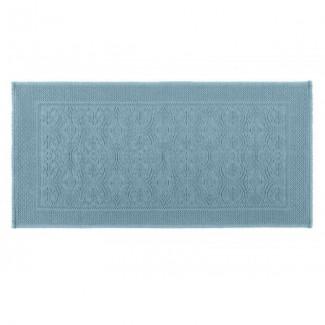 Tapis de bain bleu stone KYMI 55X110 Harmony Textile