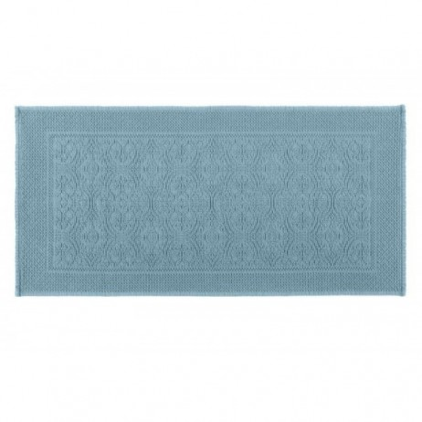 TAPIS DE BAIN KYMI BLEU STONE 55X110 - Harmony Textile