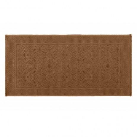 TAPIS DE BAIN KYMI TABAC 55X110 - Harmony Textile