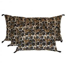 COUSSIN BOHOL 100% LIN LAVÉ - BLOCK PRINT 55X110 - Harmony Textile