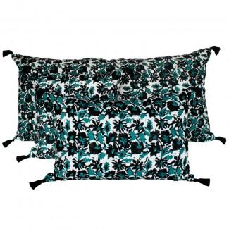 Coussin lin lavé BOHOL - BLOCK PRINT 40X60 Harmony Textile