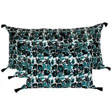 Coussin lin lavé BOHOL - BLOCK PRINT 40X60 - Harmony Textile
