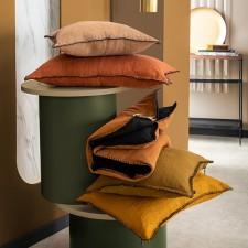 Coussin lin lavé MANSA 45X45 - Harmony Textile