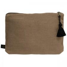 Pochette lin MANSA 29x22CM - Brownie - Harmony Textile