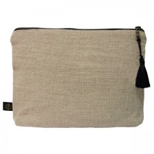 Pochette lin MANSA 29x22CM - Naturel - Harmony Textile