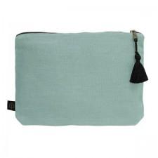Pochette lin MANSA 29x22CM - Celadon - Harmony Textile