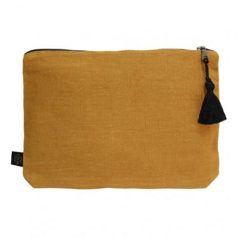 Pochette lin MANSA 29x22CM - Chamois - Harmony Textile