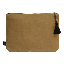 Pochette lin MANSA 29x22CM - Bronze - Harmony Textile