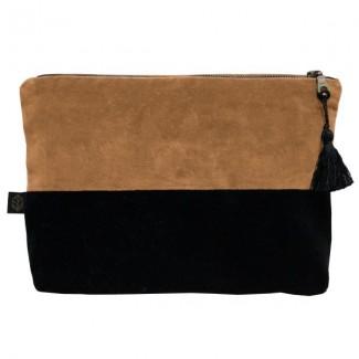Pochette velours DELHI 29X22CM Harmony Textile