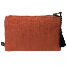 Pochette lin MANSA 15X11CM - Brick - Harmony Textile