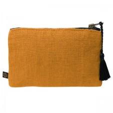 Pochette lin MANSA 15X11CM - Chamois - Harmony Textile