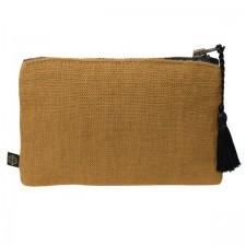 Pochette lin MANSA 15X11CM - Bronze - Harmony Textile