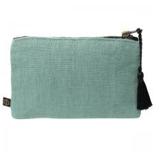 Pochette lin MANSA 15X11CM - Celadon - Harmony Textile