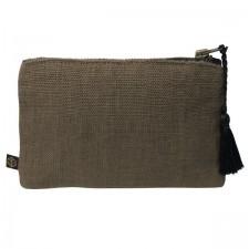 Pochette lin MANSA 15X11CM - Charbon - Harmony Textile