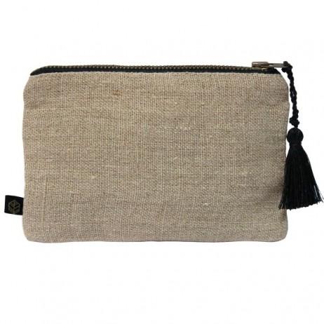 Pochette lin MANSA 15X11CM - Naturel - Harmony Textile