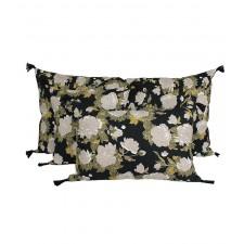 Coussin en lin Kurti Charbon - Harmony Textile