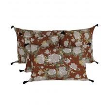 Coussin lin Kurti Cuir - Harmony Textile