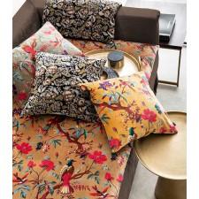 Coussin en velours Birdy Kaki - Harmony Textile