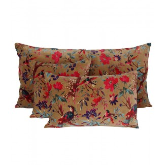 Coussin velours Birdy Tabac Harmony Textile