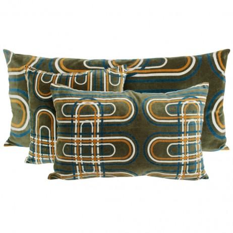 Coussin en velours Karkal Kaki - Harmony Textile
