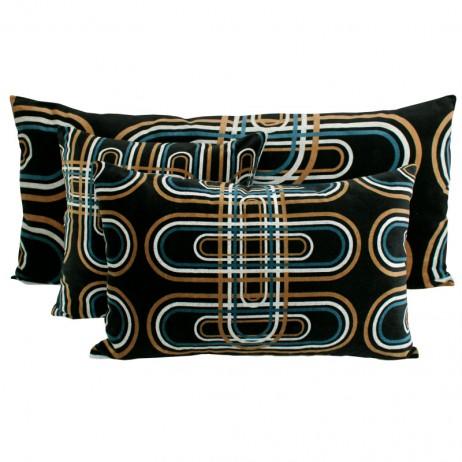 Coussin en velours Karkal Noir - Harmony Textile