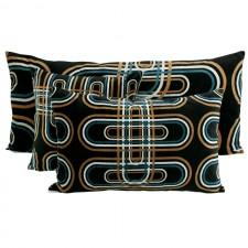 Coussin velours Karkal Noir - Harmony Textile