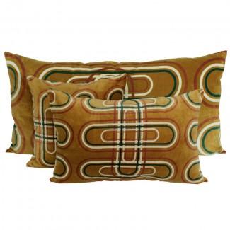 Coussin velours Karkal Tabac Harmony Textile